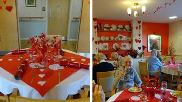 Valentine's Day celebrations at Honiton care home