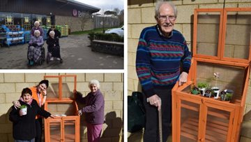 Green fingered Residents at Linlithgow care home