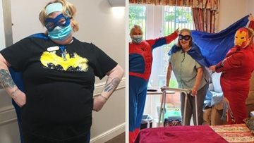 Consett care home Colleagues dress as superheroes for July's themed day