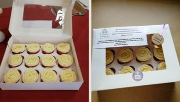 Pencoed care home staff receive cake donations from local baker