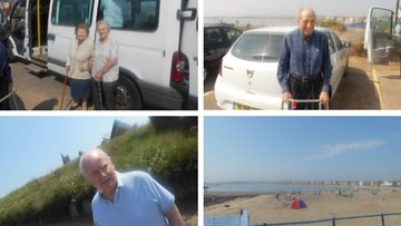 Sun, sea and sand for Morpeth care home Residents
