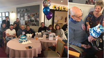 Bolton care home celebrates Resident's 90th birthday in style