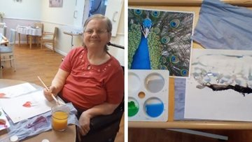Bringing the outdoors in with bird painting at Aberford Hall