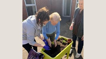 Coventry care home Residents spruce up garden in time for summer