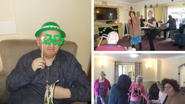 St Paddy's Day antics at Woodcross Care Home