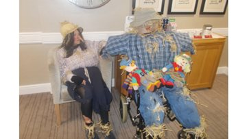 Scarecrows attend Durham care home's Harvest Festival