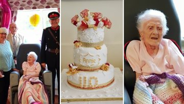 Priory Gardens Resident and Britain's 12th oldest woman celebrates 110th birthday