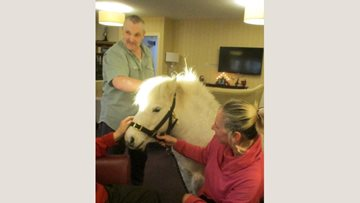 Therapy pony brings joy to Residents at Angus care home