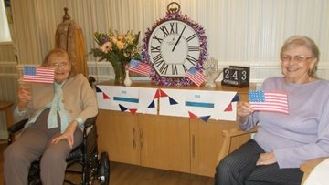 American themed day brings party vibe to Durham care home