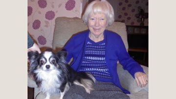 Therapy dog brings comfort to Whittlesey care home Residents