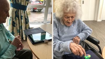 Staying connected through new technology at Falkirk care home