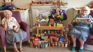 Harvest Festival gives care home opportunity to donate to local food bank