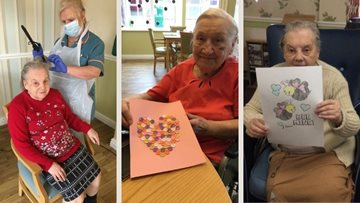 An afternoon of pampering and Valentine's crafts at Cradley Heath care home