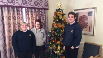 Neath Care Home visited by Year 11 students from Dwr-Y-Felin Comprehensive School