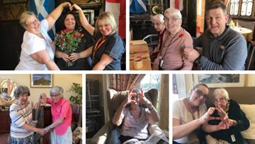 Valentine's Day celebrations at Bridport care home