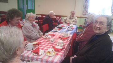 Residents attend a St George's Afternoon Tea Dance