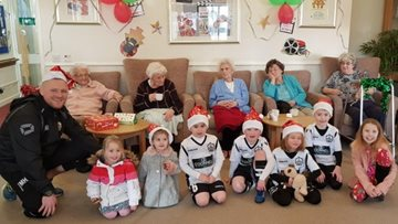 Residents welcome special visitors to Sandon House