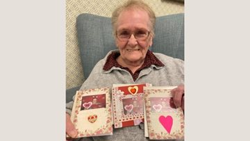 Grimsby care home Residents craft Valentine's cards for their loved ones