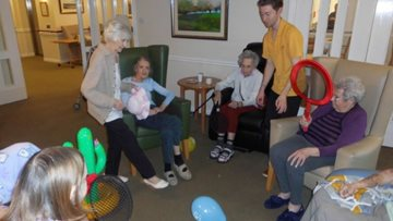 Residents keep moving at Ayr care home