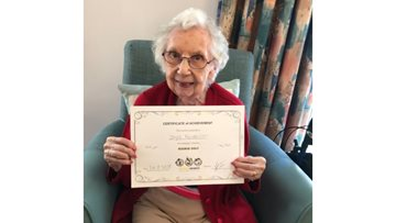 Hole in one for new Resident at Morpeth care home