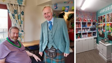 Lord Lieutenant unveils shop at Stirling care home