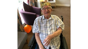 Foxton Court's first ever Resident celebrates birthday in style