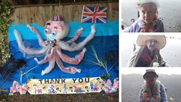 Grimsby care home create thank-you octopus!