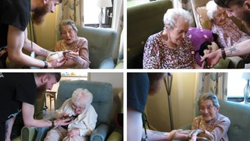 Hinckley care home welcomes Zoolab for animalistic adventure