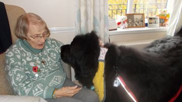 Durham care home Residents enjoy visits from four-legged friend
