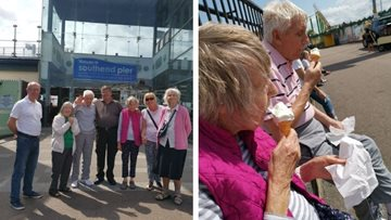 Luton care home Residents enjoy beach trip to Southend