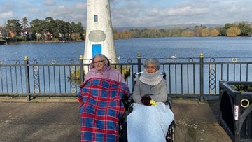 Cardiff care home Residents enjoy outing to Roath Park