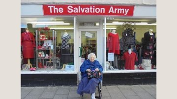 Whittlesey care home Resident volunteers at local Salvation Army