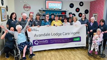 Avandale Lodge celebrates glowing report from CQC