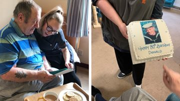 Resident celebrates 80th birthday at Stornoway care home