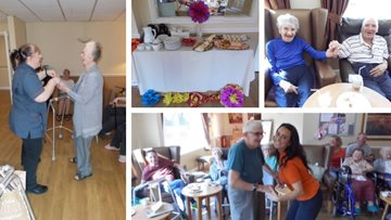 Mother's Day celebrations at Carlton care home