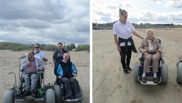 Forfar care home Residents enjoy beach buggy experience