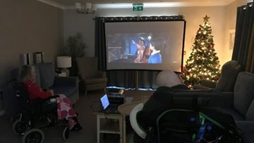 Boston care home Residents enjoy 'Home Cinema' afternoon