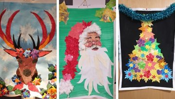Creative Christmas crafts at Glasgow care home