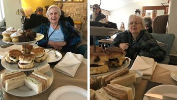Broadway care home Residents enjoy afternoon tea with HC-One friends