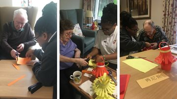 Chinese New Year celebrations at Blackburn care home