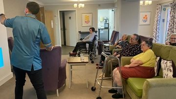 Residents keep fit with armchair Zumba at Leicestershire care home