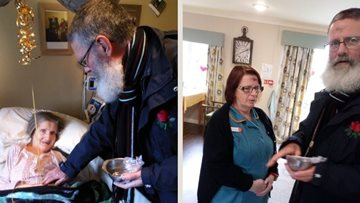 Blackburn care home welcomes local priest for Ash Wednesday