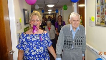 Dingle Meadow care home take part in memory walk