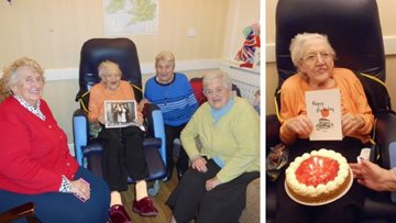 96 birthday candles at Sherwood care home