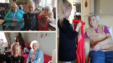 6-year-old dancer visits Redcar care home