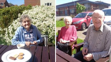 Residents soak up the sunshine at Roseberry Court