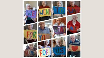 Leeds care home Residents send out powerful message