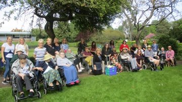 Chelmsford care home takes a walk in the sunshine