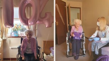 Centenarian celebrates 104th birthday at Glasgow care home