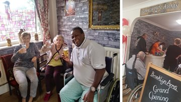 Residents raise a glass at pub opening in Birmingham care home